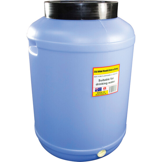 Icon Wide Mouth Water Drum 25L, , bcf_hi-res