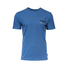Quiksilver Waterman Men's Sword Fight Tee Ensign Blue S, Ensign Blue, bcf_hi-res
