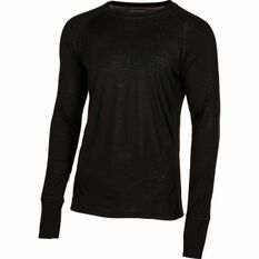 OUTRAK Unisex Merino Blend Long Sleeve Top Black XXS, Black, bcf_hi-res