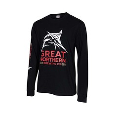 The Great Northern Brewing Co. Men's Long Sleeve Tee Black S, Black, bcf_hi-res