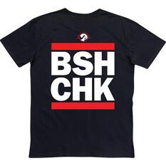 Bush Chook Men's Run The Chooks Tee Black S, Black, bcf_hi-res