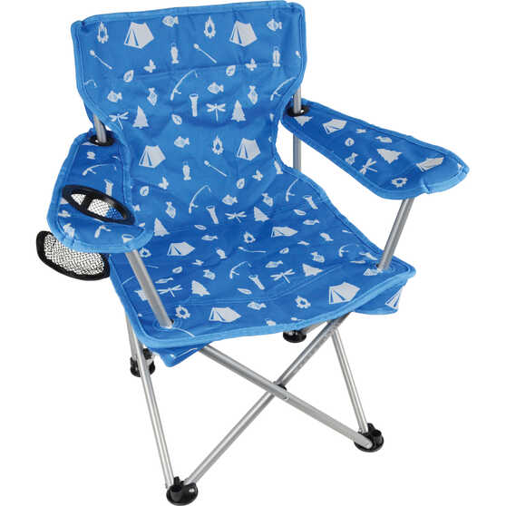 Wanderer Kids' Camping Fun Camp Chair Blue, Blue, bcf_hi-res