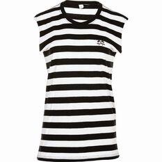Tide Apparel Women's Stripe Tank Top Black / White 8, Black / White, bcf_hi-res