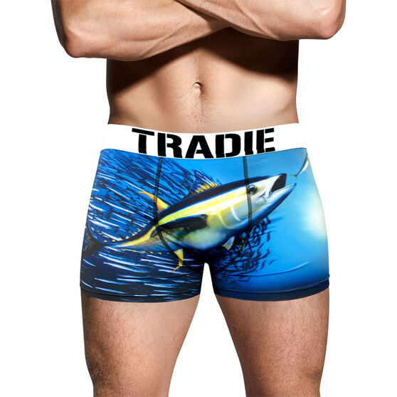 Tradie Men's Yellow Fin Tuna Trunks Yellow Fin Tuna M, Yellow Fin Tuna, bcf_hi-res