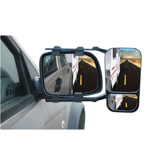 Haigh Adjustable Dual View Towing Mirror, , bcf_hi-res