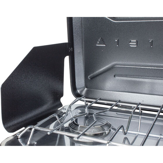 2 Burner LPG Portable Stove with Drip Tray, , bcf_hi-res