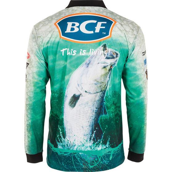 BCF Men's Barra Jump Sublimated Polo Green XL, Green, bcf_hi-res