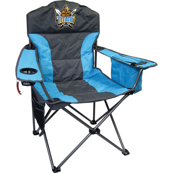 NRL Gold Coast Titans Camp Chair, , bcf_hi-res