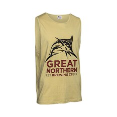 The Great Northern Brewing Co. Men's Tank Light Sand S, Light Sand, bcf_hi-res