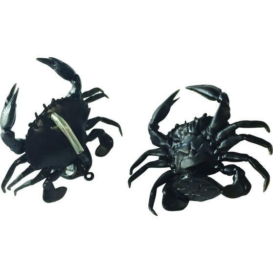 Savage 3D Manic TPE Crab Soft Plastic Lure 2.5cm Black, Black, bcf_hi-res