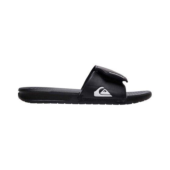Quiksilver Waterman Bright Coast Adjustable Thongs, Black / White, bcf_hi-res