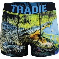 Tradie Men's Croc in a Pond Trunk Print S, Print, bcf_hi-res
