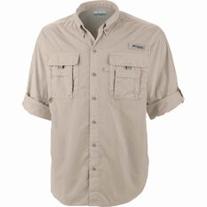 Men's Bahama II Long Sleeve Fishing Shirt, Fossil, bcf_hi-res