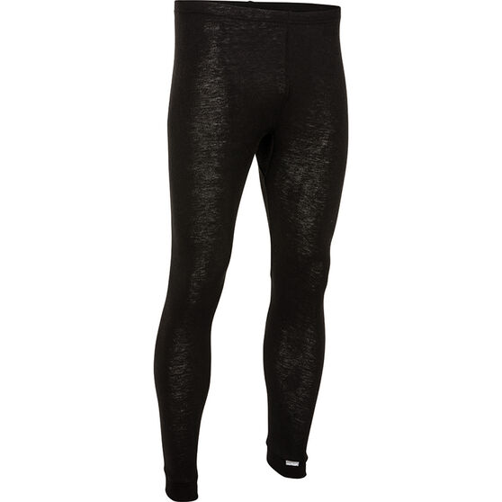 OUTRAK Men's Polypro Long Johns, Black, bcf_hi-res