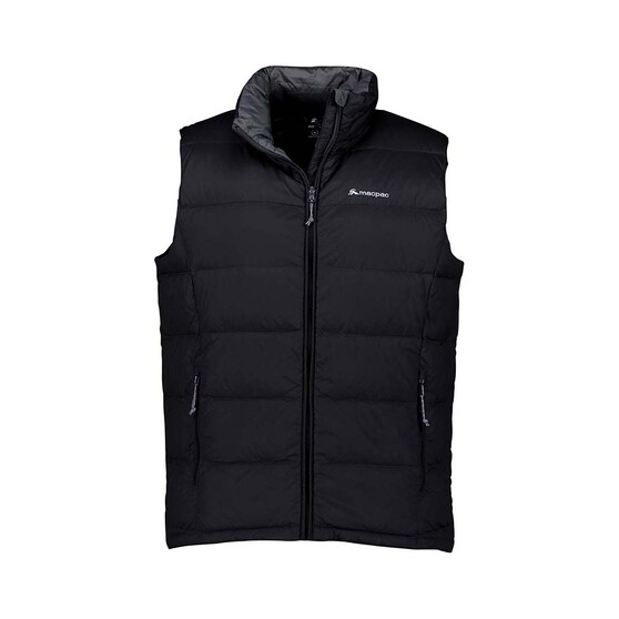 Macpac Men's Halo Down Vest, Black, bcf_hi-res