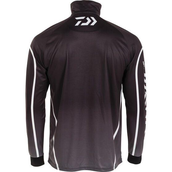 Daiwa Men's Team Sublimated Polo Black M, Black, bcf_hi-res