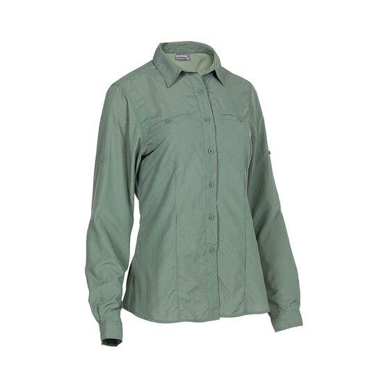 OUTRAK Women's Long Sleeve Hiking Shirt, Lily Pad, bcf_hi-res