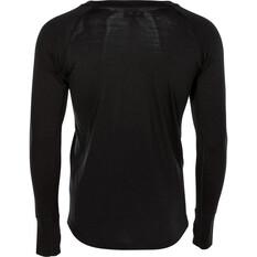 OUTRAK Men's Merino Long Sleeve Top, Black, bcf_hi-res