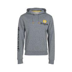 Bundaberg Rum Men's Hooded Fleece Sweater Grey Marle S, Grey Marle, bcf_hi-res