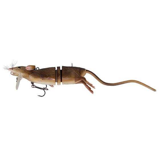 Savage 3D Rad Rat Surface Lure 20cm Brown, Brown, bcf_hi-res
