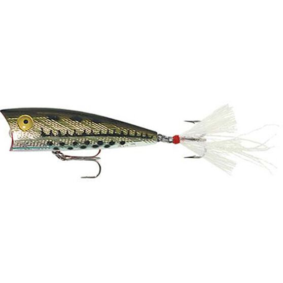 Rebel Teeney Pop-R Surface Lure 2in Olive Bass, Olive Bass, bcf_hi-res