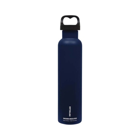 Fifty Fifty Insulated Drink Bottle 750ml Navy, Navy, bcf_hi-res