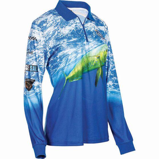 BCF Women's Mahi Sublimated Polo, Blue, bcf_hi-res