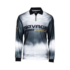 Savage Gear Smoke Men's Sublimated Polo Black S, Black, bcf_hi-res