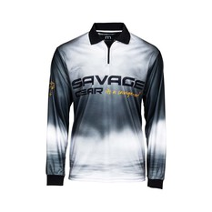 Savage Gear Smoke Men's Sublimated Polo Black S, Black, bcf_hi-res