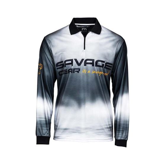 Savage Gear Smoke Men's Sublimated Polo, Black, bcf_hi-res