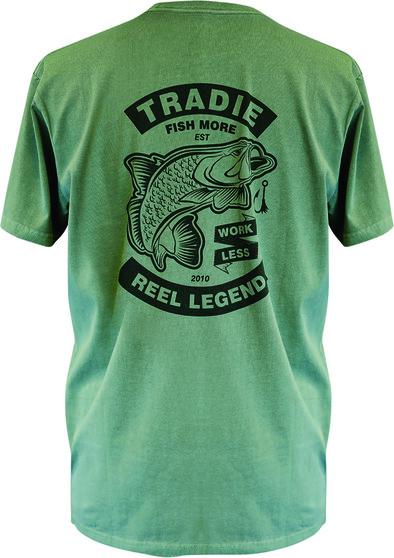 Tradie Men's Reel Legend Tee, Green, bcf_hi-res