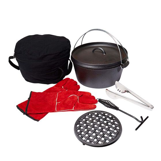 Wanderer Pre Seasoned Cast Iron Set 7.5Qt, , bcf_hi-res