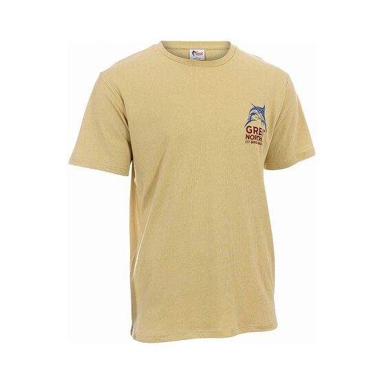 The Great Northern Brewing Co. Mens Zero Tee, Sand, bcf_hi-res