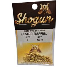 Shogun Brass Barrel Snap Swivel 12 Pack, , bcf_hi-res