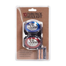10 LED Headlight Twin Pack, , bcf_hi-res