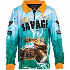 Savage Kids' Flathead Sublimated Polo Green 4, Green, bcf_hi-res