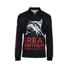 The Great Northern Brewing Co. Men's Original Sublimated Polo Black M, Black, bcf_hi-res