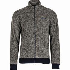 Men's Yak Fleece Jacket Charcoal Marle S, Charcoal Marle, bcf_hi-res