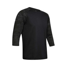 Under Armour Men's Camo Sleeve Utility Tee Black / Blackout Camo S, Black / Blackout Camo, bcf_hi-res