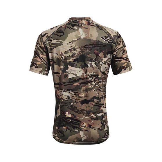 Under Armour Men's Isochill Brushline Tee, Forest Camo / Black, bcf_hi-res