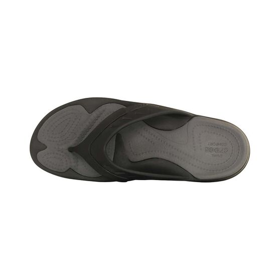 Crocs Men's Modi Sport Thongs, Black / Grey, bcf_hi-res