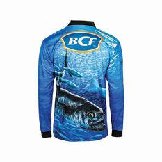 BCF Men's Spanish Mackerel Sublimated Polo Blue XL, Blue, bcf_hi-res