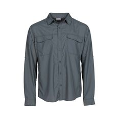 OUTRAK Men's Long Sleeve Hiking Shirt Sage Grey S, Sage Grey, bcf_hi-res
