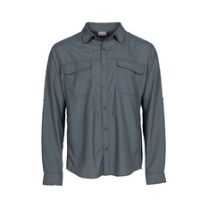 OUTRAK Men's Long Sleeve Hiking Shirt Sage Grey S, Sage Grey, bcf_hi-res