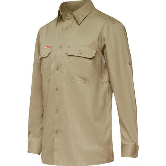 Men's Y07720 Long Sleeve Shirt Khaki 3XL, Khaki, bcf_hi-res
