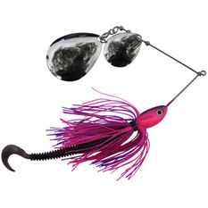 Gangster Bidgee Bait Spinner Bait Lure 1oz Pink / Purple, Pink / Purple, bcf_hi-res