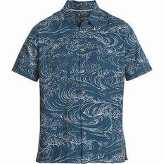 Quiksilver Men's Wind and Waves Shirt Orion Blue S Men's, Orion Blue, bcf_hi-res