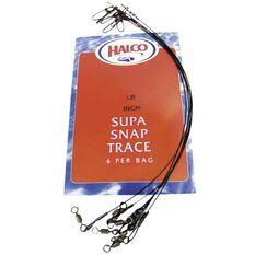 Halco Supa Snap Trace Wire Black 11in 20lb, Black, bcf_hi-res