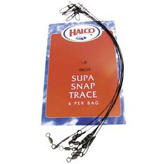 Halco Supa Snap Trace Wire Black 11in 20lb, Black, bcf_hi-res
