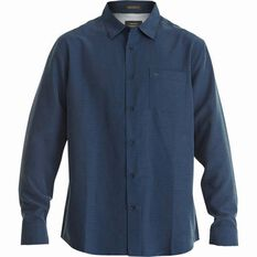 Quiksilver Men's Centinela Regular Fit Long Sleeve Shirt Parisian Night S Men's, Parisian Night, bcf_hi-res